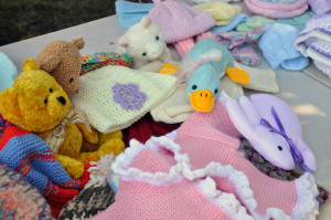 Knitted baby goods